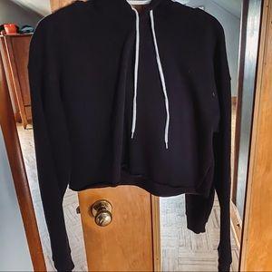 Black cropped hoodie from target